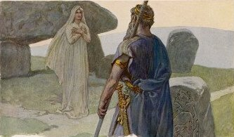 Óðinn gặp völva (1905) – tranh của Carl Emil Doepler Jr.
