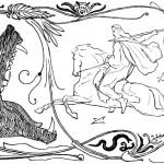 Óðinn ra trận chiến với Fenrir (1895) – tranh của Lorenz Frølich