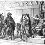 Óðinn, thông qua Bragi, đón chào các Einherjar vào Valhalla (1882) – tranh của W. Engelhard