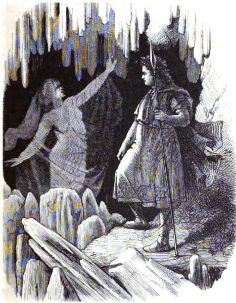 Óðinn và völva (1882) – tranh của F.W. Heine