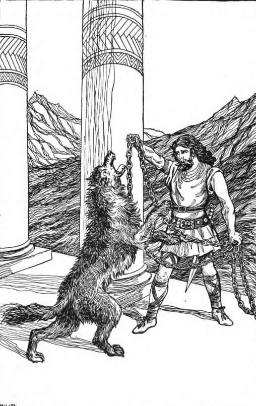 Þórr xích Fenrir (1901) – tranh minh họa của H.L.M