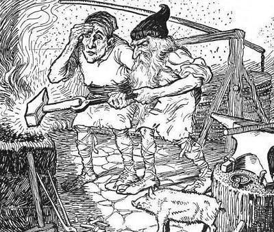 Brokkr và Eitri – khuyết danh
