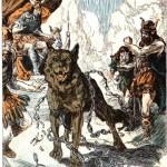 Các vị thần ngạc nhiên khi Fenrir dứt đứt xiềng xích (1922 ) – tranh của A.H. Winkler