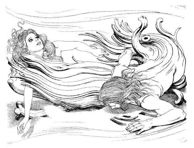 Sự tạo thành Askr và Embla (1978) – tranh minh họa của Giovanni Caselli