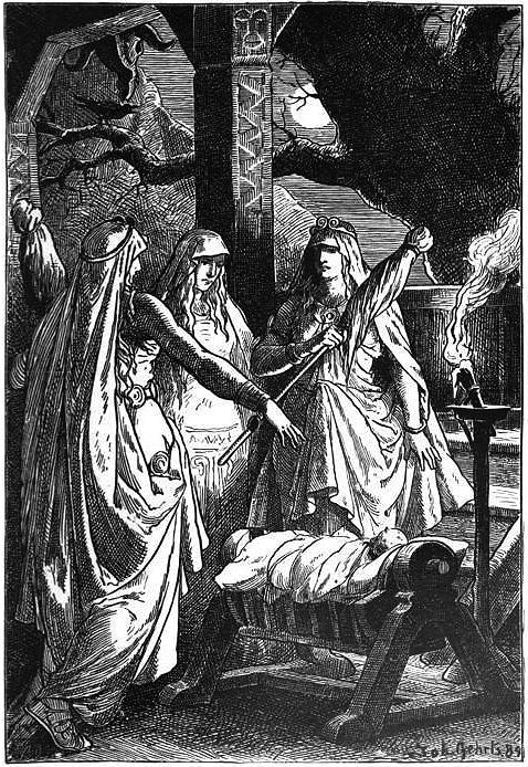 Die Nornen (1889) – tranh của Johannes Gehrts