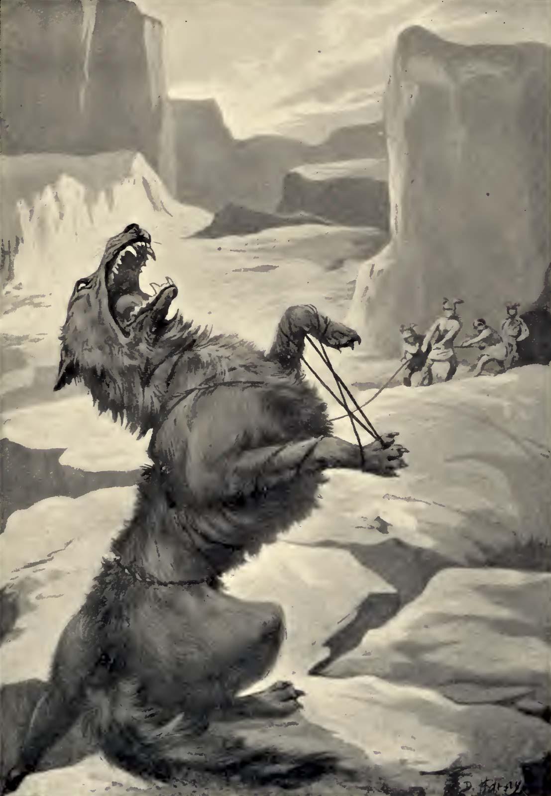 Fenrir bị xích (1909) – tranh của Dorothy Hardy