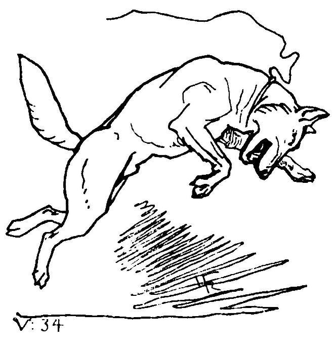 Fenrir trốn thoát (1895) – tranh minh họa của Lorenz Frølich