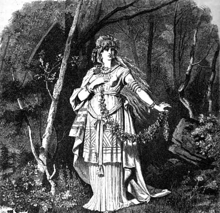 Freya (1882) - tranh minh họa của Carl Emil Doepler
