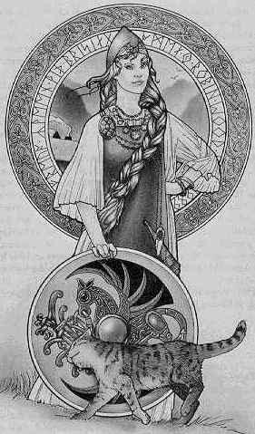 Freyja - tranh của Robin Wood