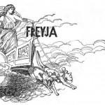 Freyja trong cỗ xe của mình (1901)