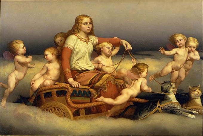 Freyja (1852) - tranh của Nils Blommér