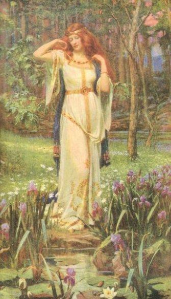 Freyja đeo Brísingamen - tranh của J. Penrose