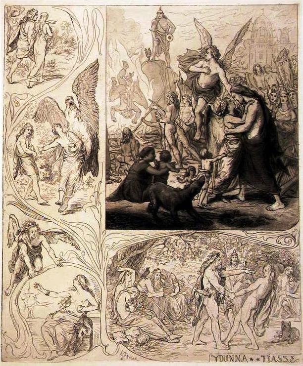 Iðunn và Þjazi (1885) – tranh của Lorenz Frølich