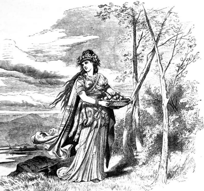 Nữ thần Iðunn mang táo (1882) - tranh minh họa của Carl Emil Doepler