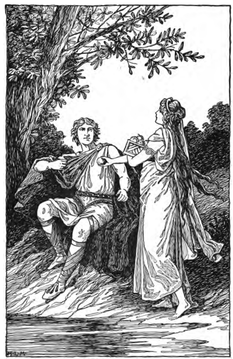 Iðunn đưa táo cho Loki (1901) - tranh của H.L.M.