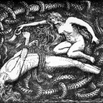 Loki bị xiềng (1908) – tranh của W.G. Collingwood