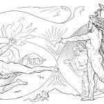 Loki dùng lửa dọa các thần Æsir (1895) – tranh của Lorenz Frølich