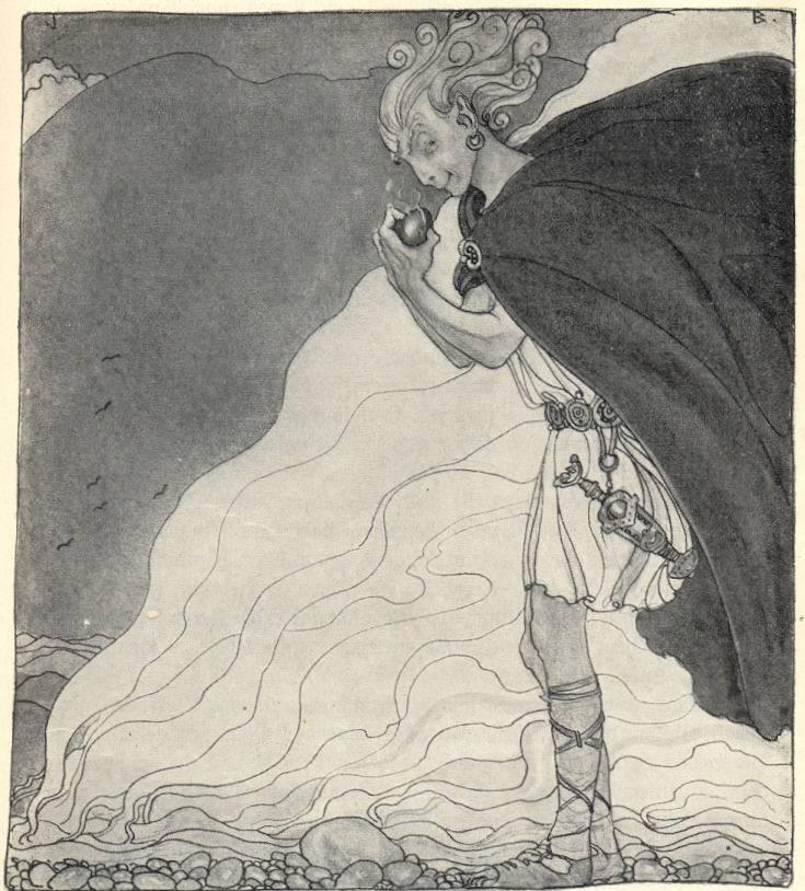Loki tìm thấy trái tim của Gullveig (1911) – tranh của John Bauer