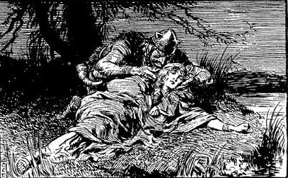 Loki trộm Brísingamen (1930) – tranh của Charles E. Brock