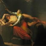 Loki và Sigyn – tranh của C.W. Eckersberg