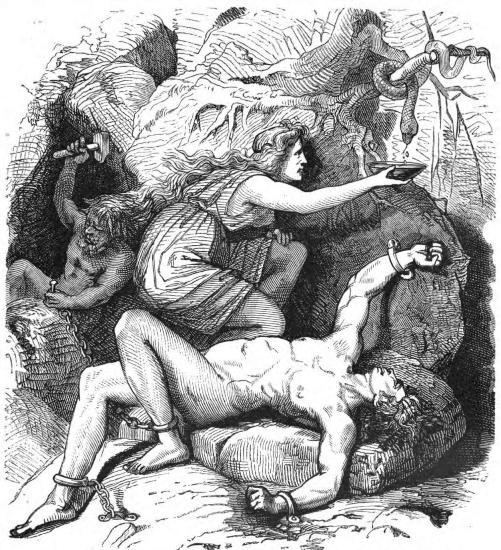 Loki và Sigyn  – tranh của Friedrich Wilhelm Engelhardt