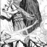 Loki và Sigyn (1920) – tranh của Franz Stassen