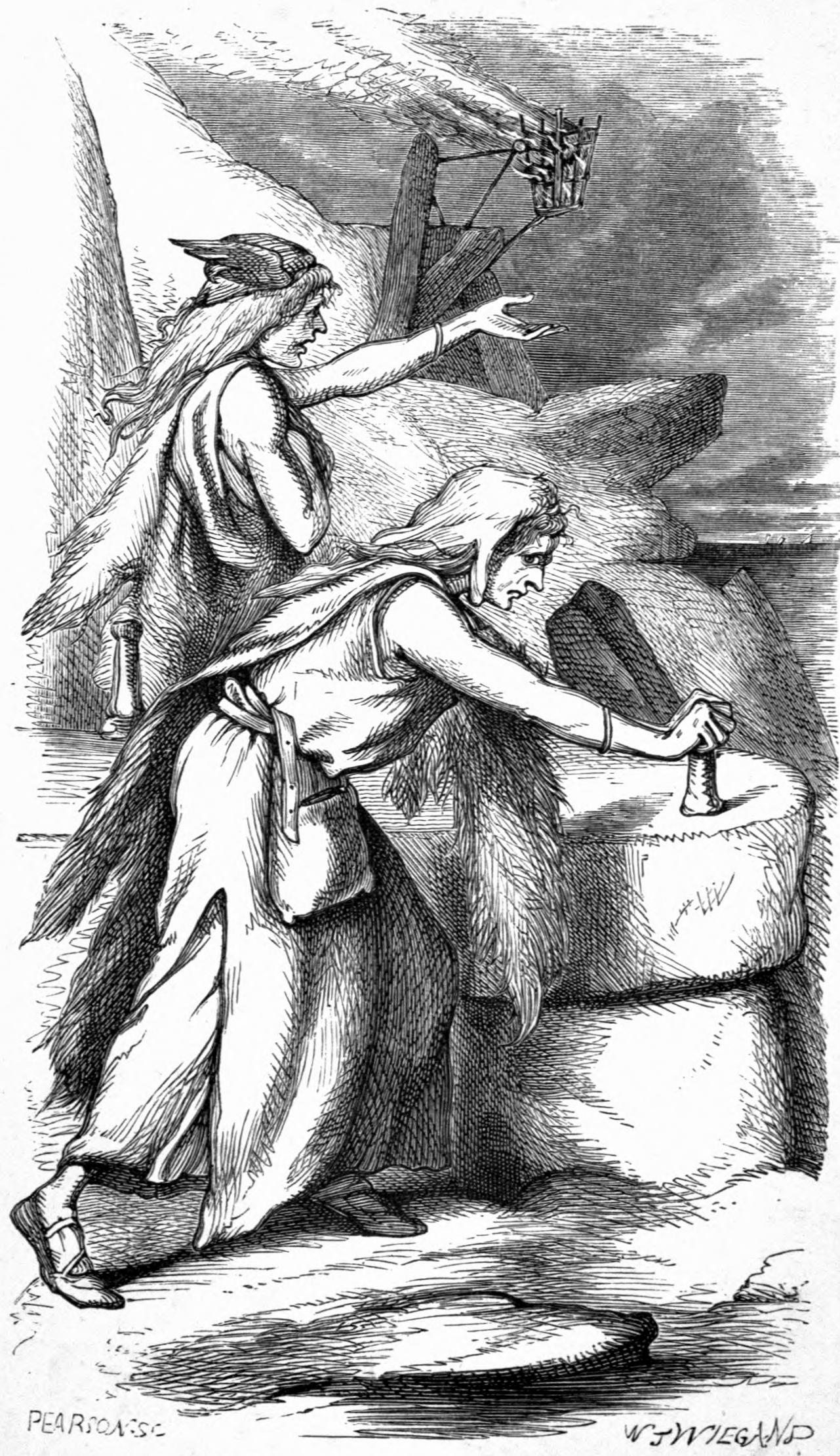 Menja và Fenja (1871) – tranh của W. J. Wiegand
