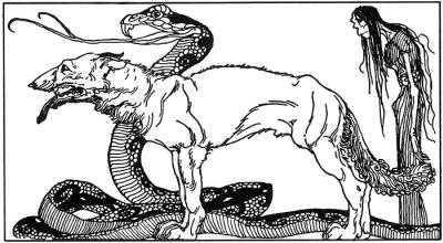Những đứa con của Loki (1920) – tranh của Willy Pogány