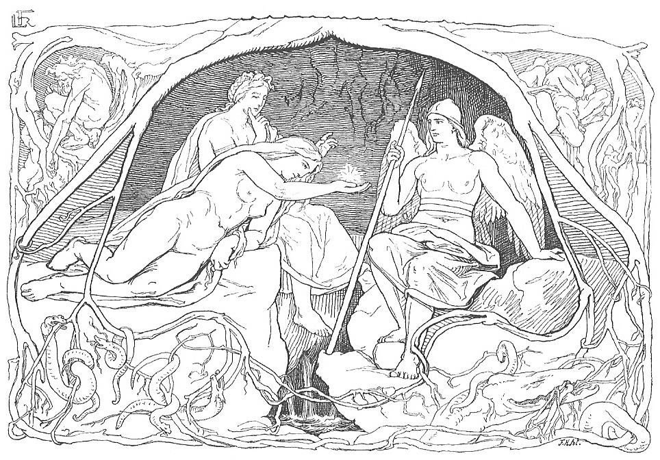 Ba norns ở Urðarbrunnr (1895) – tranh của Lorenz Frølich
