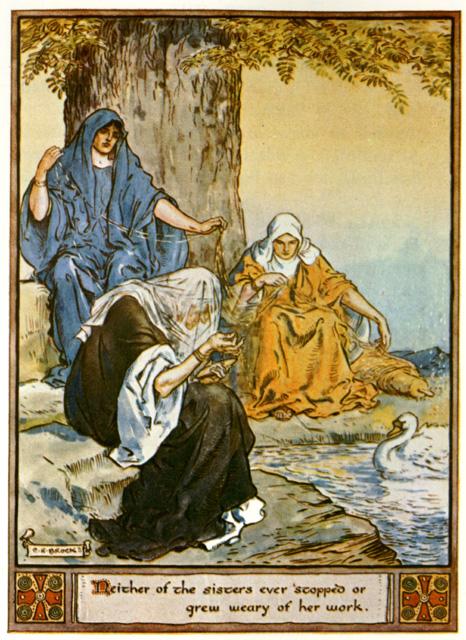 Norns (1930) – tranh của  Charles E. Brock