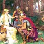 Iðunn và những quả táo (1890) - tranh của J. Doyle Penrose