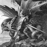 Sigurðr giết Fáfnir (1843) – tranh của Wilhelm Kaulbach