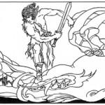 Sigurðr giết Fáfnir (1920) – tranh của Willy Pogány
