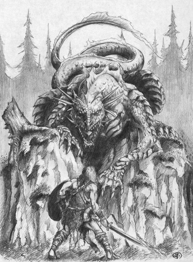 Sigurðr và Fáfnir – khuyết danh