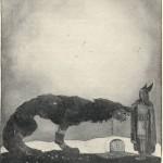 Týr và Fenrir (1911) – tranh của John Bauer