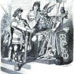 Víðarr và Óðinn (1882) – tranh của Carl Emil Doepler Sr.