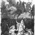 Valkyrie đưa các anh hùng tử trận về Valhalla (1882) – tranh của F. W. Heine