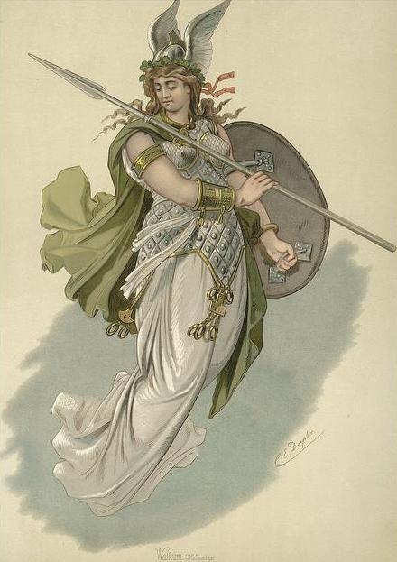 Valkyrie 1 (1876) – tranh của Carl Emil Doepler Sr.