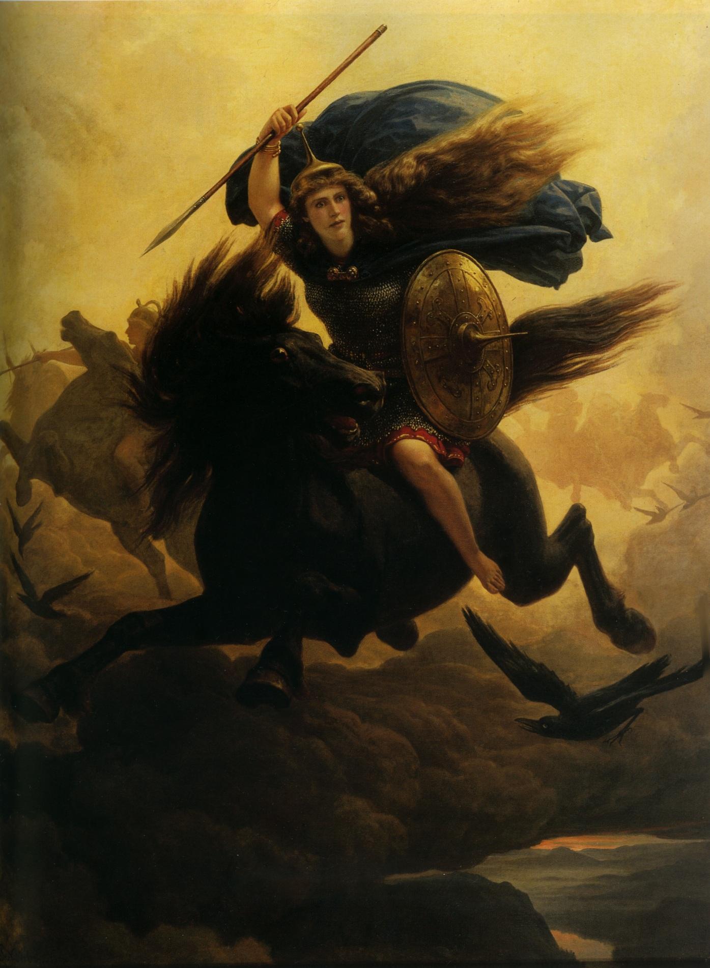 Valkyrie (1865) – tranh của Peter Nicolai Arbo