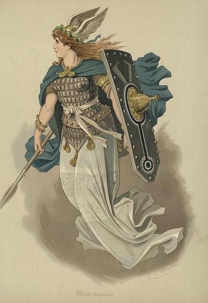 Valkyrie 3 (1876) – tranh của Carl Emil Doepler Sr.