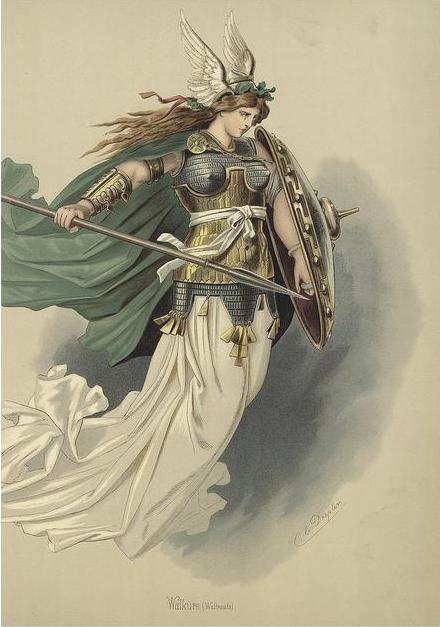 Valkyrie 4 (1876) – tranh của Carl Emil Doepler Sr.
