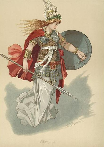 Valkyrie 6 (1876) – tranh của Carl Emil Doepler Sr.