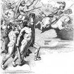 Valkyrie Hildr dẫn các chiến binh ra trận (1882) – tranh của Friedrich Wilhelm Engelhardt