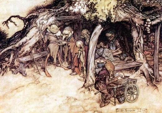 Yêu tinh – tranh của Arthur Rackham