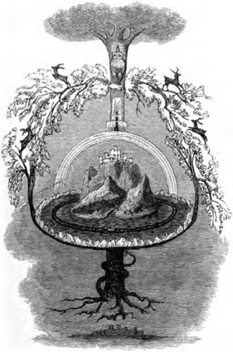 Yggdrasil (1871) – tranh của Louis Huard