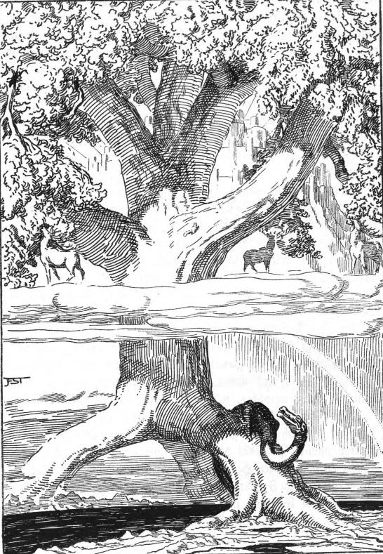 Yggdrasil (1920) – tranh của Franz Stassen