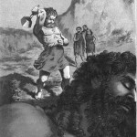 Þórr đến thật gần Skrýmir và thu hết sức... (1886) – tranh của Edward O. Davey