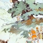 Người khổng lồ Skrýmir (1902) – tranh của George Wright