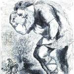 Người khổng lồ Skrýmir và Þórr (1871) – tranh của Louis Huard