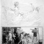 Skrýmir dẫn đường cho Þórr và các bạn (1885) – tranh của Lorenz Frølich